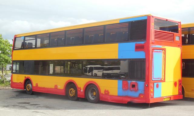 2001 Volvo B7LT Red Blue tours E1219 XX12486 ex City Trafik 2801
