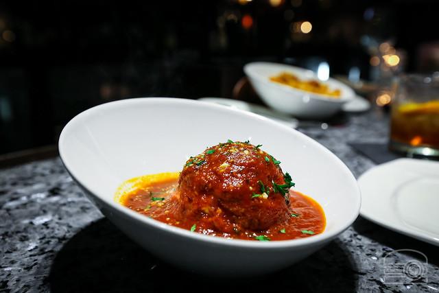 House recipe meatball stuffed with fresh Mozzarella cheese - Stefano's