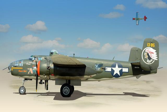 B-25J Mitchell Bomber - Revised