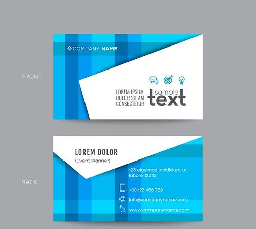 Blue modern business card design | by farankhalid07