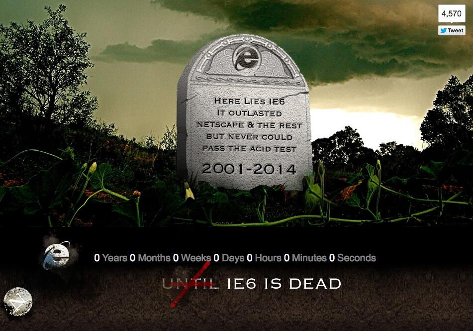 IE6 Long Dead