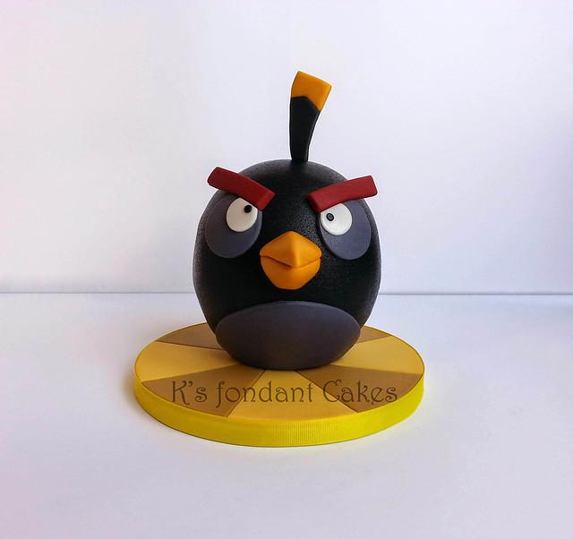 Angry Bird Bomb Cake
