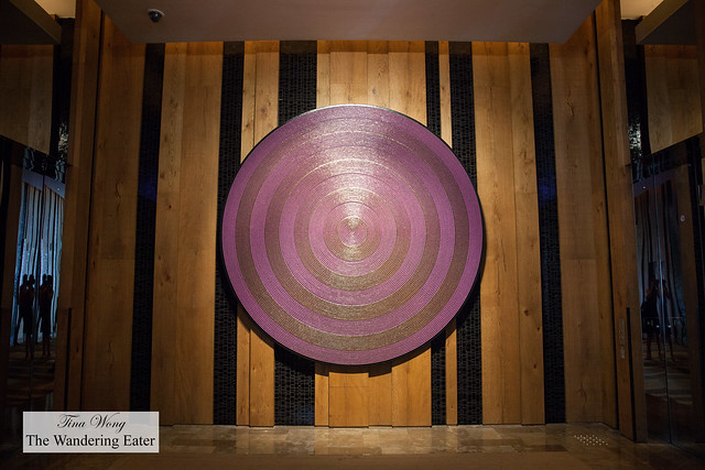 """""""Purple Target"""" represents the hotel's locale, smack in the heart of the swanky Xinyi district."""