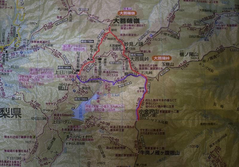 小金沢山地図
