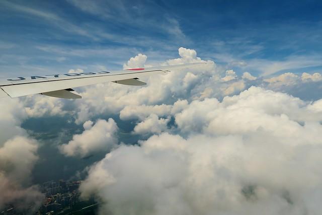 Cloudy day flight