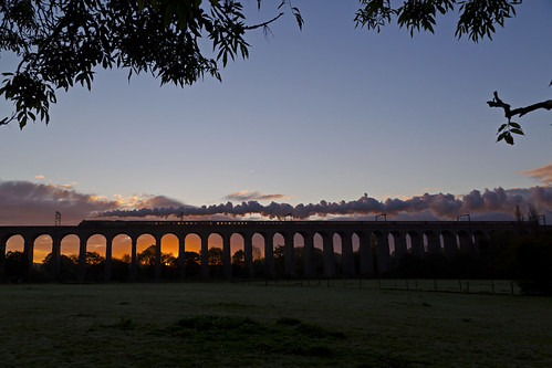 silhouette sunrise pacific steam viaduct a4 eastcoast lner ecml 60009 unionofsouthafrica digswellviaduct welwynviaduct