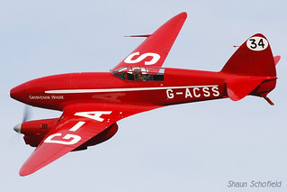 De Havilland DH 88 Comet G-ACSS Shuttleworth Collection Old Warden 05/10/14 | by Shaun Schofield