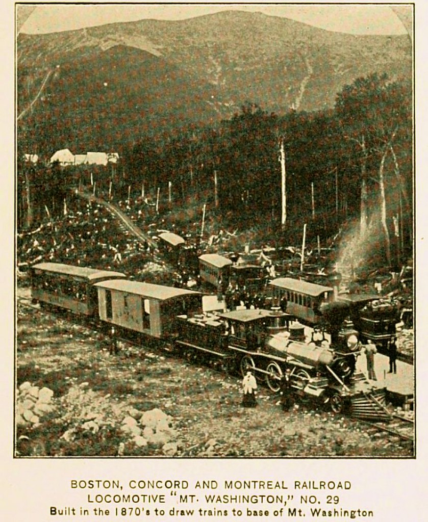 Junction Of Concord Montreal RR With Mt Washington NH Ca 1880
