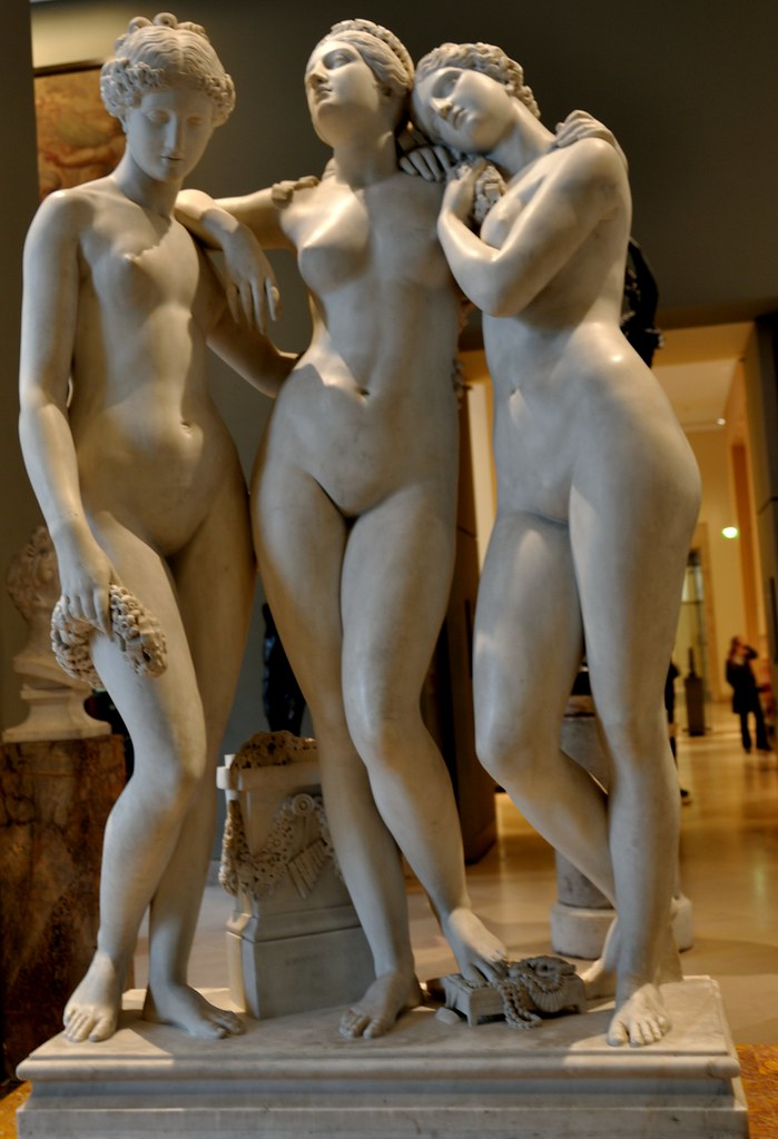Three Graces Marble Sculpure By James Pradier 1831 At