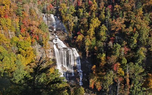 autumn fall waterfall rainbow northcarolina whitewaterfalls canon1dmkiii tokina1628f28 fotodioxwonderpana
