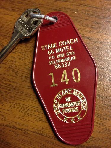 Stagecoach 66 Motel Key, Route 66, Seligman, Arizona | by RoadTripMemories