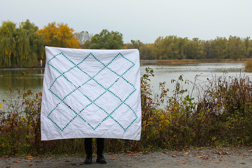 Irish Chain quilt, finished