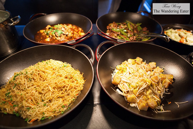 Chinese style stir fry dishes at Grand Cafe breakfast buffet