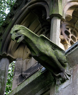 A Victorian gargoyle, the Church of Christ the Consoler, Skelton-on-Ure, North Yorkshire, England