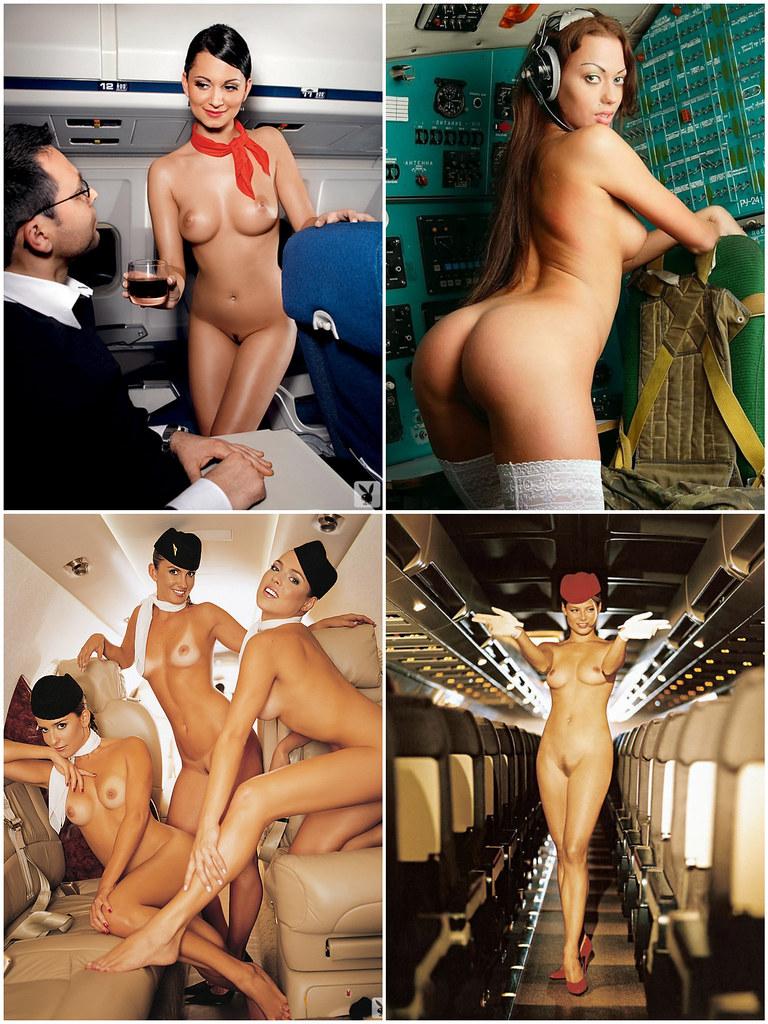 naked stewardess