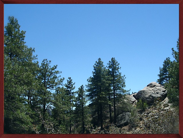 Hualapai Mountains in Arizona--Framed Red Wood