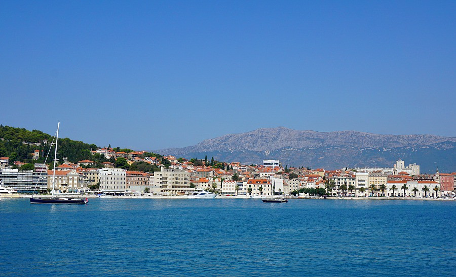 Split Croatia view from ferry