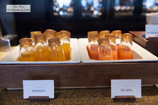 Fresh mango and guava juice