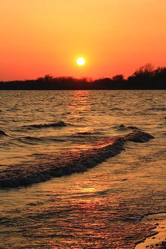sunset ontario canada lakeerie greatlakes longbeach