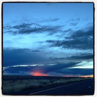 Arizona desert sunset. #airstream #airstreamdc2cali #arizona #vintageairstream