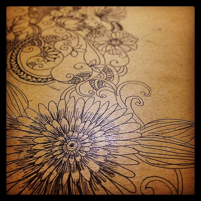 Botanical drawings on my gf's notebook. #botanical #doodle #drawings #flower #zendoodle #zentangle #notebook #sketch #art
