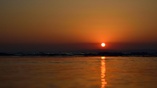 sunset sea sky turkey see waves sub dortyol