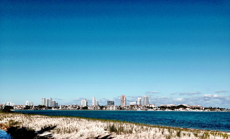 Fisher Island and South Beach from Virginia Key