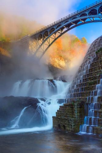 newyork water sunrise waterfall crotondam crotongorgepark