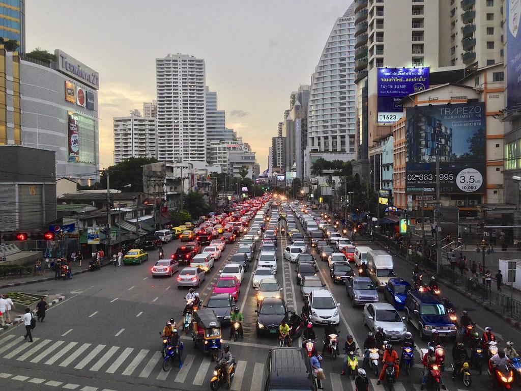 Along Sukhumvit Road Bangkok