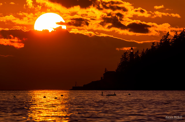 Sunset over Point Atkinson Lighthouse