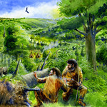 Mesolithic landscape by Alan Marshall