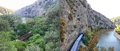 Greece, Macedonia   & Western Thrace, railway tracks & tunnels along  Nestos river gorge