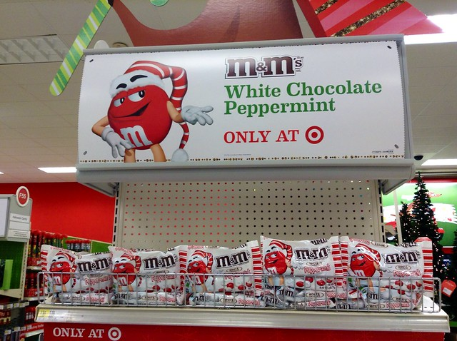 M&M's White Chocolate Peppermint Candy, Target Store Exclusive, Christmas 2014, . By Mike Mozart of TheToyChannel and JeepersMedia on YouTube #M&Ms #Christmas #2014 #Candy #Target #Store #Peppermint