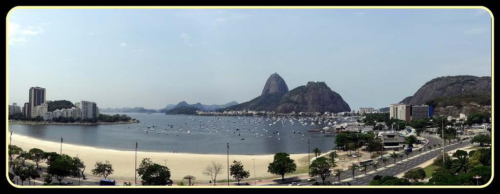 Enseada de Botafogo e Pão de Açucar. Rio de Janeiro, Brasil