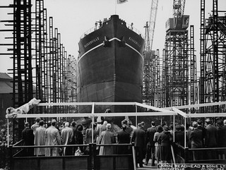 Launch of the cargo ship 'Baskerville'