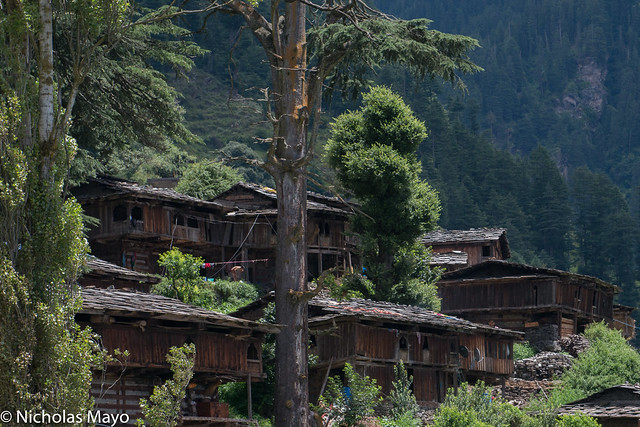 Wooden Houses In The Kulu Valley