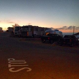 Dawn at Malibu Beach RV Park. #airstream #airstreamdc2cali #vintage #vintageairstream #liveriveted #malibu #california