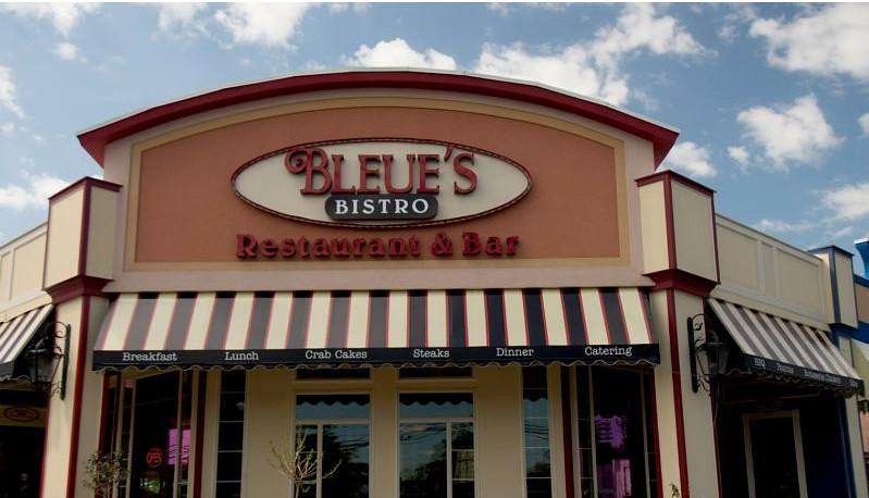 Bleue's Bistro Restaurant Awning