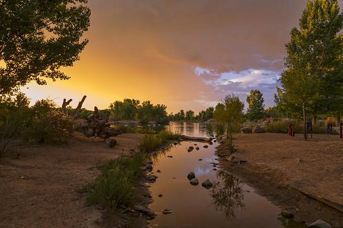 park sunset sky newmexico water landscape cloudy dusk albuquerque nm tingleybeach grantcondit