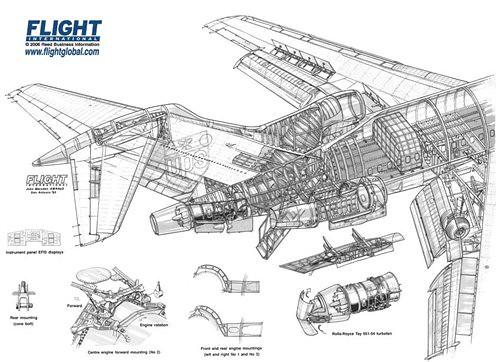 Bae 727QF Cutaway Drawing