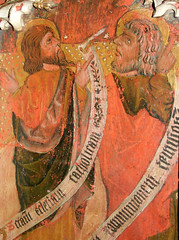 Mattishall screen: St Mtthias and St Simon (15th Century)