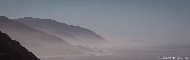 Misty morning along the coastline