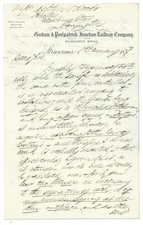 Girvan & Portpatrick Junction Railway letterhead 1877   by ian.dinmore