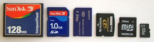Memory Cards / Size Comparison   by mobilyazilar