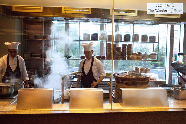 Chefs cooking during the breakfast shift at Made in China