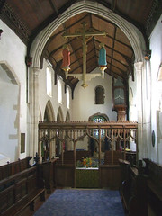 looking west from the seven stepped chancel