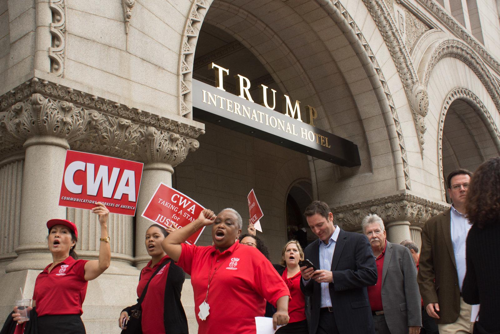 Picketing Trump Hotel