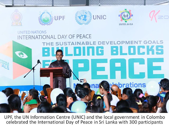 Sri Lanka-2016-09-21-International Day of Peace Celebrated in Sri Lanka