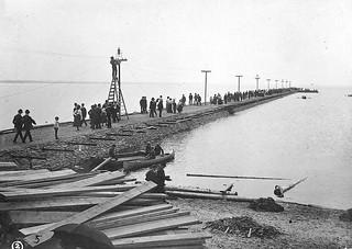 Britannia Pier near completion ca. 1899. Britannia Park was owned by the Ottawa Electric Railway.