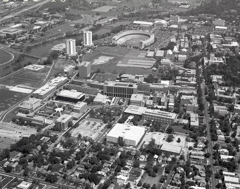 1984 Aerial View Aerial View Of Ohio State Campus South C Flickr